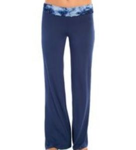 C&C California Tie-dye Lace Waistband Flared Pants